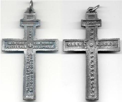 Cruz de San Benito /Ecce Crucem Domini.Fugite contradictorio adversae.Vicit Leo de tribu Iuda.Radix David Aleluya S-XX  Crucif10