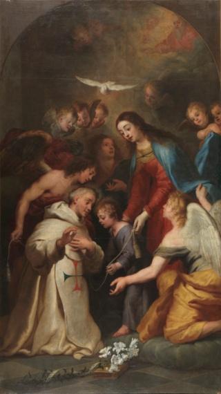 Beato Simón de Rojas / Inscripción Ave Maria - s. XVIII La_apa10