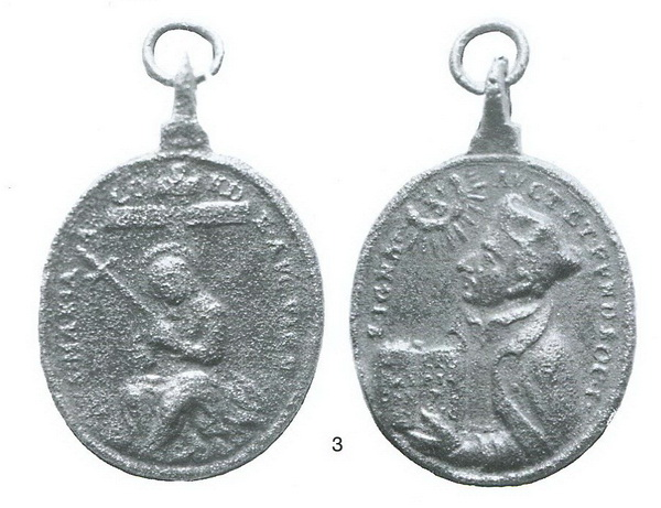 San Ignacio de Loyola - Mater Dolorosa una espada, S. XVII (R.M. SXVII-O474) Medall10