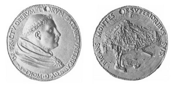 Santo Tomás  de Aquino / Ciudad de Nápoles? - MR718 (R.M. SXVII-C98) Medall19