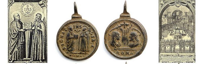 Virgen de Monte Santo de Bohemia ( Svatá Hora) A.H/ San Ignacio de Loyola y San Francisco Javier, F.T., S.XVII - (MAM) ( R.M. SXVII-O561)  Medall23
