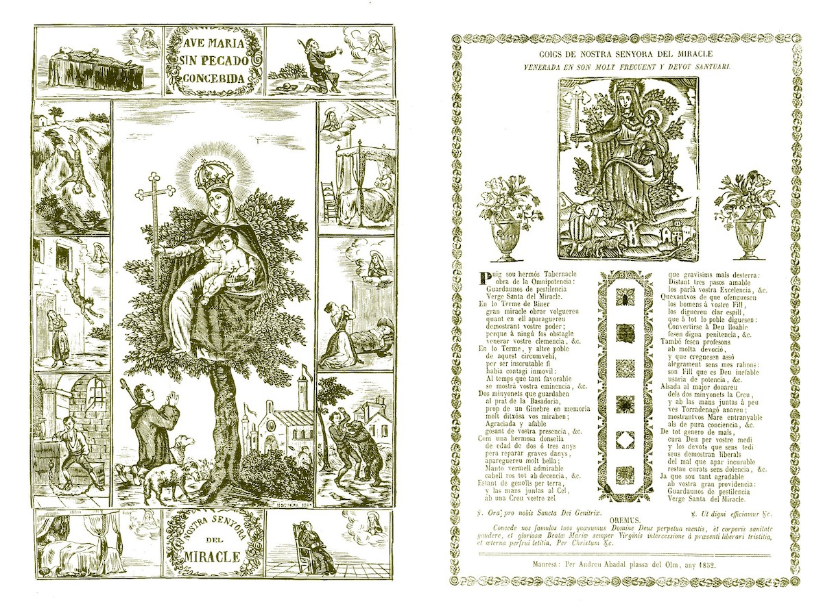 Medalla Nª Sª del Miracle, final s. XIX, principios s. xx Miracl10