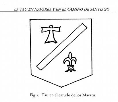 San Antonio Abad (S. Antón) / Cruz Tau - s. XVII Modelo18