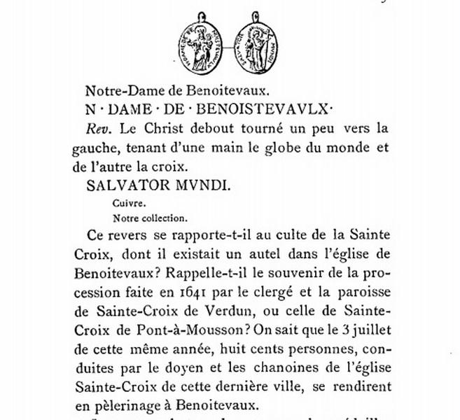 Salvator Mundi / Notre Dame de Benoite-Vaux - s. XVIII Revue_10