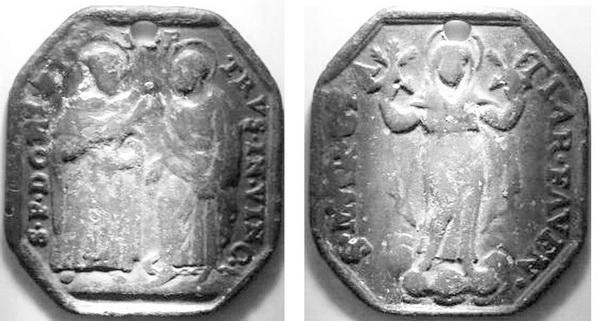 Santo Domingo de Guzmán y San Pedro encadenado / Virgen de  Gracia de Faenza,  S. XVII S_d_fa10