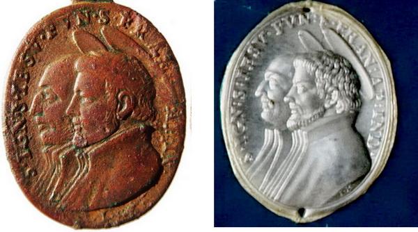 San Ignacio de Loyola y San Francisco Javier / Pulchra ut luna - s. XVII (Hamerani) Traian12