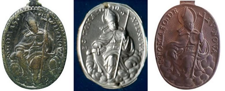 san Carlos Borromeo (Marca AH) / santo Tomas de Villanueva, s. XVII Travan11