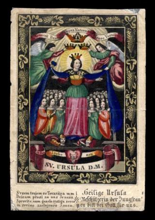 Sin identificar - Monograma Mariano, S. XVIII Ursula11