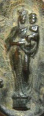 Medalla unifaz Ntra. Sra. del Pilar , s. XX Virgen10