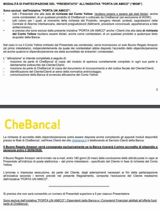 CHEBANCA! regala BUONO AMAZON € 50 con codice presentatore [promozione valida fino al 30/06/2020] Cattur11