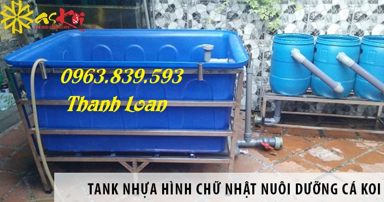 Bán thùng nhựa chữ nhật 1000L giá rẻ giao hàng tận nơi - Call: 0963.839.593 Thanh Loan Tank-n10
