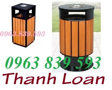 Bán thùng rác giả gỗ - thùng rác ngoài trời sử dụng khu du lịch, resort mới giá sỉ Thung-21