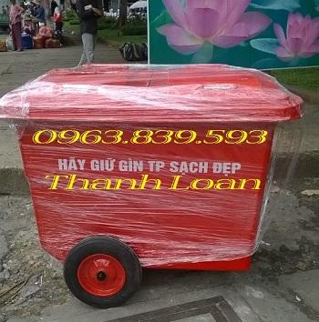 Xe thu gom rác lớn - thùng rác 660L Composite - thùng rác công cộng rẻ Thung-34