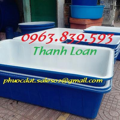 Bán thùng nhựa chữ nhật 1000L giá rẻ giao hàng tận nơi - Call: 0963.839.593 Thanh Loan Thung-37