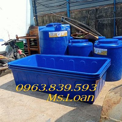 Bán thùng nhựa chữ nhật 1000L giá rẻ giao hàng tận nơi - Call: 0963.839.593 Thanh Loan Thung-38