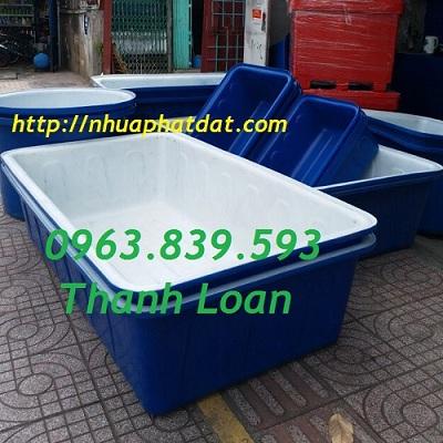 Bán thùng nhựa chữ nhật 1000L giá rẻ giao hàng tận nơi - Call: 0963.839.593 Thanh Loan Thung-39