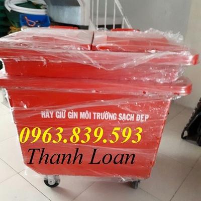 Xe thu gom rác lớn - thùng rác 660L Composite - thùng rác công cộng rẻ Thung_29