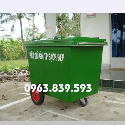 Xe thu gom rác lớn - thùng rác 660L Composite - thùng rác công cộng rẻ Xe_oy_10