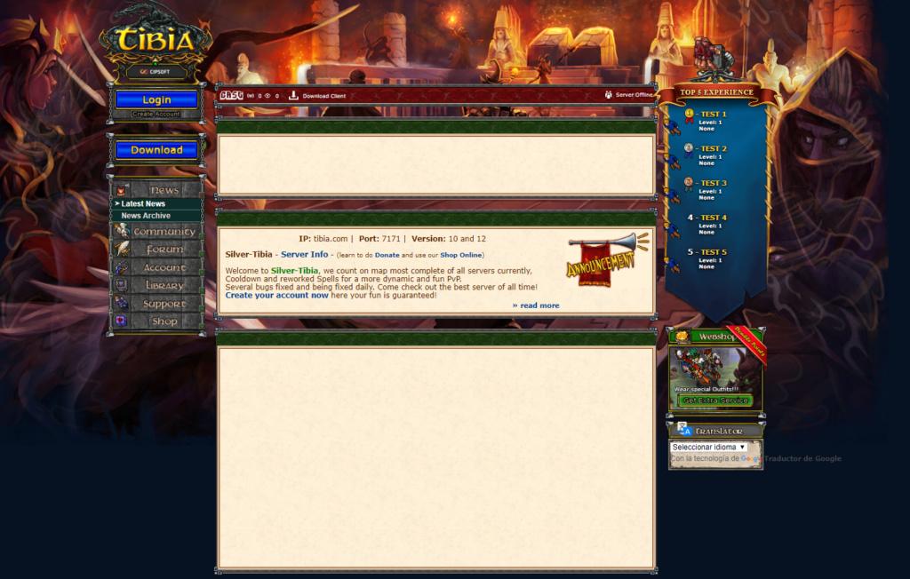 [APORTE DE EL AÑO ] Gesior ACC Tibia 12 - login.php Client 12 Web10