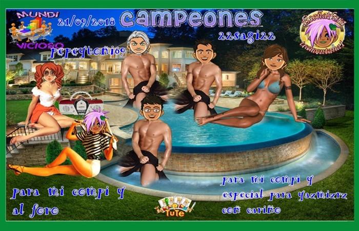TORMEO DE TUTE CAMPEONES PEPEYTONI69  SUBCAMPEONES  ISAVIDA Y ELBOGAVANTE   FINALISTAS VALLE133TELLADO43     21/09/2018 0510