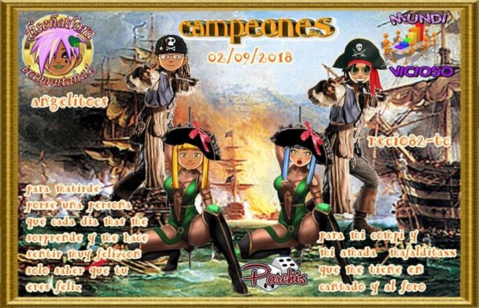 TORNEO DE PARCHIS CAMPEONES  ANGELITOCS Y RECIO82-TC  SUBCAMPEONES  DAMA Y ANICASTANO FINALISTAS DJAMEVAR31 Y AIME40   02/09/2018 Ataque10