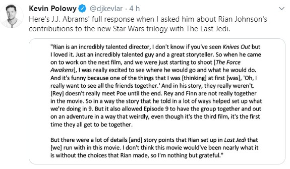 Episode IX: The Rise of Skywalker Press Tour & Interviews - Page 25 Rian_110