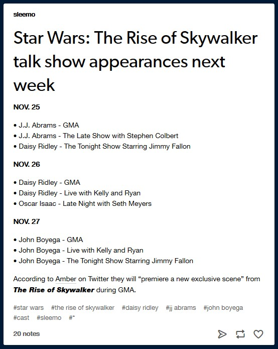 The Rise of Skywalker: Marketing - Page 3 Sleemo10