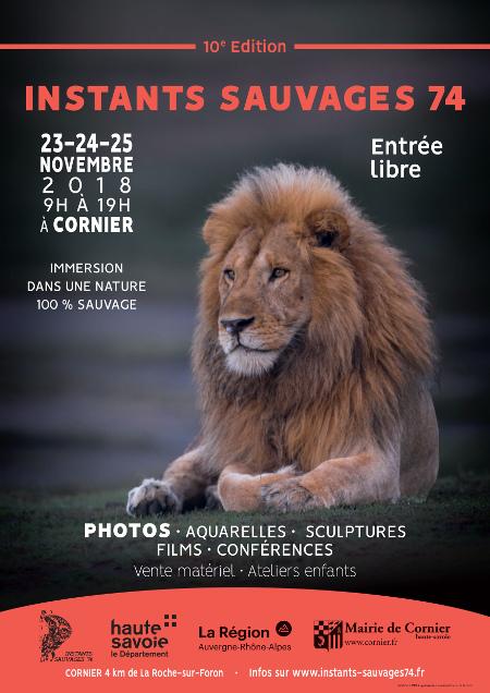 """10ème édition des """"Instants Sauvages"""" en Haute-Savoie ! Affich11"""