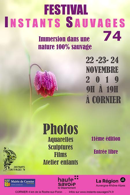"""11ème édition des """"Instants Sauvages"""" en Haute-Savoie ! Affich13"""