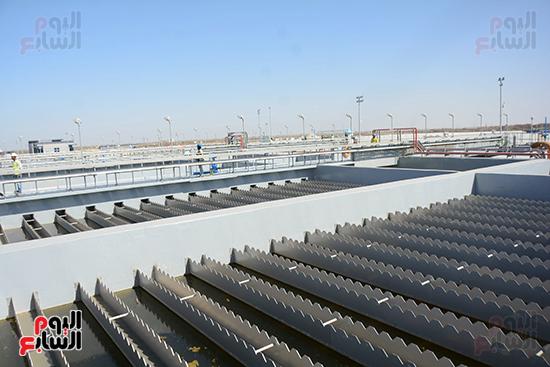 """الرئيس المصري يفتتح أضخم محطة معالجة مياه في العالم  و تسجل ضمن موسوعة الأرقام القياسية العالمية """"جينيس"""" 210"""