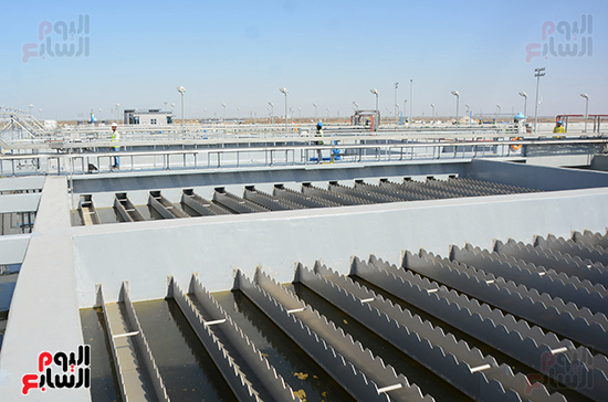 """الرئيس المصري يفتتح أضخم محطة معالجة مياه في العالم  و تسجل ضمن موسوعة الأرقام القياسية العالمية """"جينيس"""" 310"""