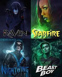 Teen  Titans la serie Zyndic11