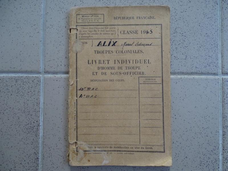 Livret militaire 10e et 4ème RAC 01/1945 ESC - FEV 1 BAISSE DE LA RENTREE Livret23