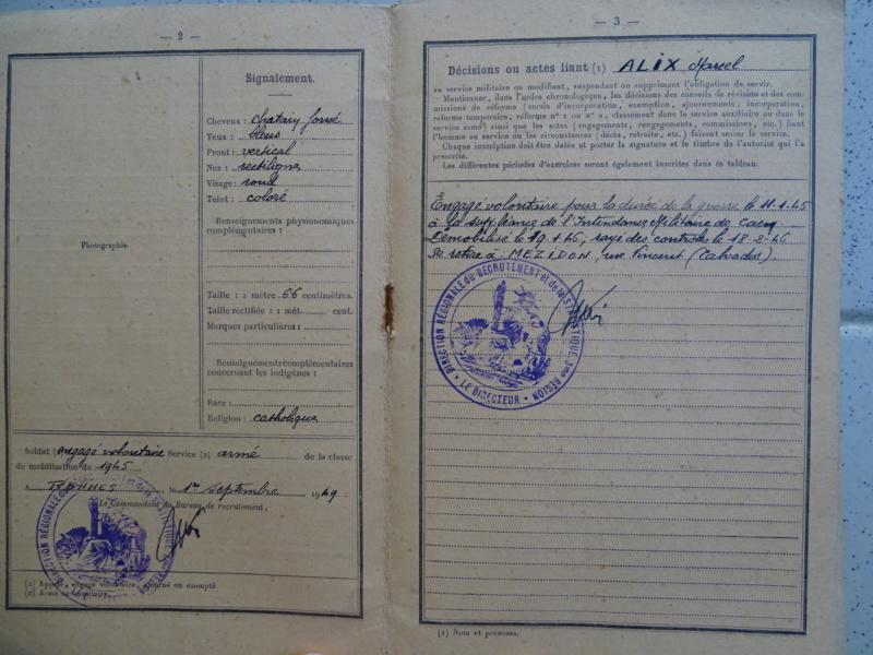 Livret militaire 10e et 4ème RAC 01/1945 ESC - FEV 1 BAISSE DE LA RENTREE Livret24