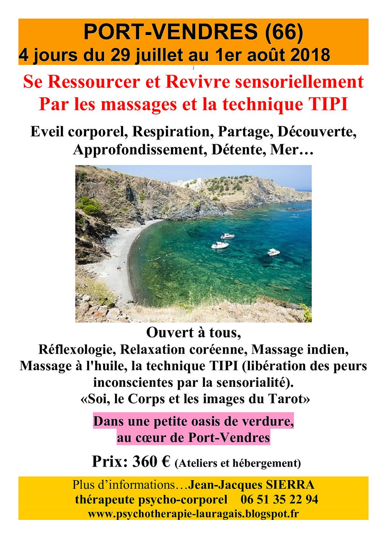 cet été 4 jours à Port-Vendres, massages, Tipi, Tarot Affich10