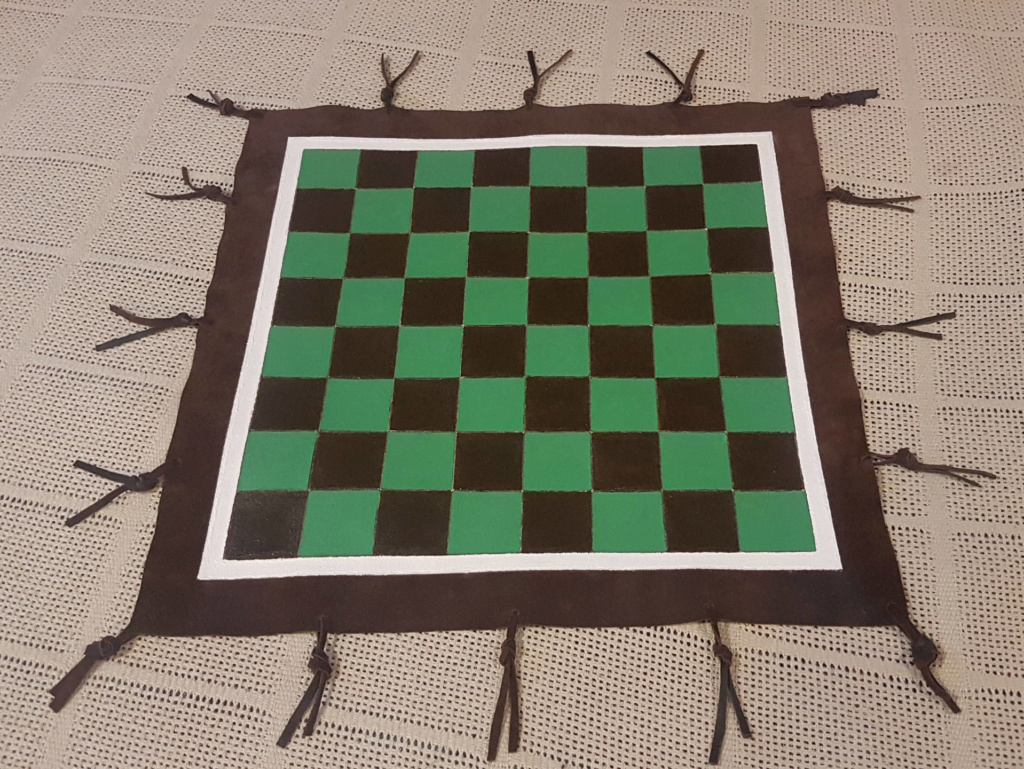 Leather Chess Board Leathe11