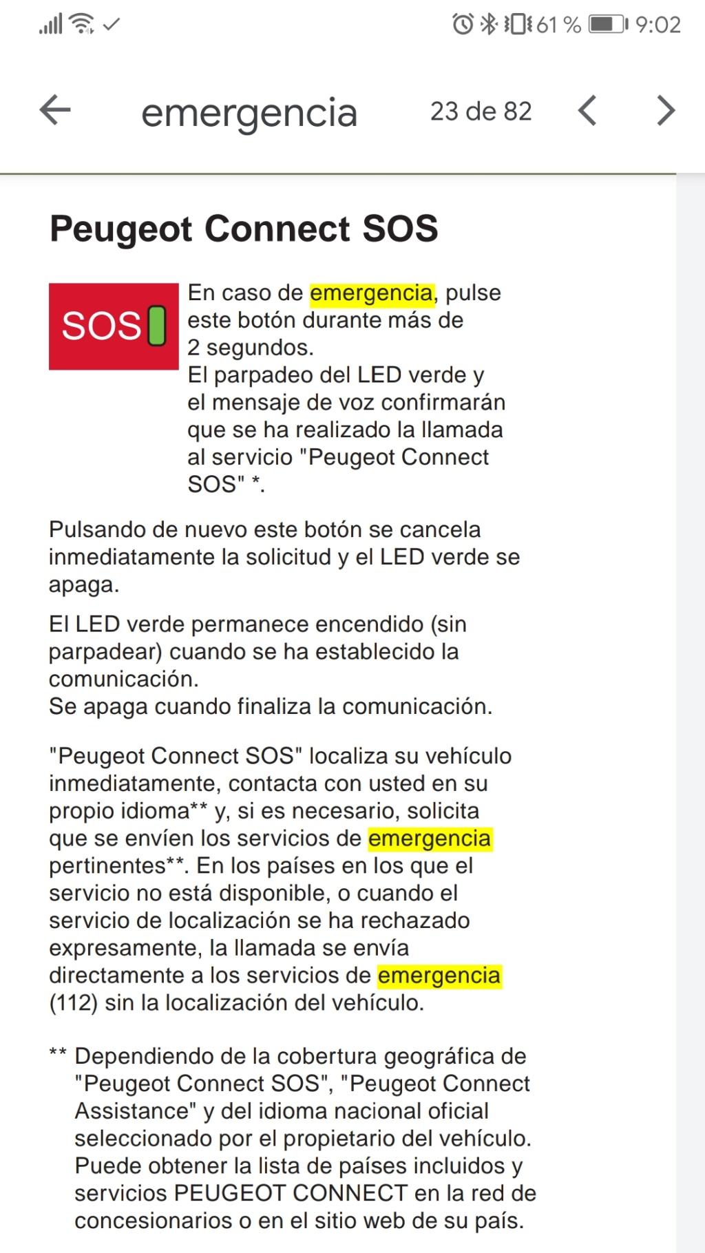 Emergencia SOS parpadeando. Screen31