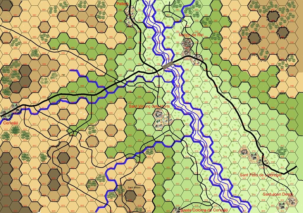 Molins de Rei Battle 21 dec 1808 - Scenary Batall13