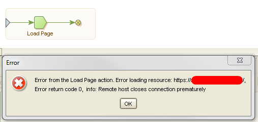solved] Error from Loading Page Action