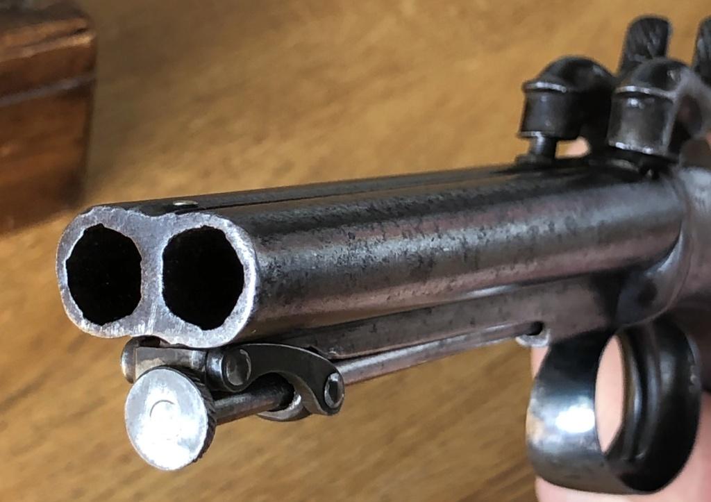 Pistolet à percussion double canons poinçons anglais Img_9014