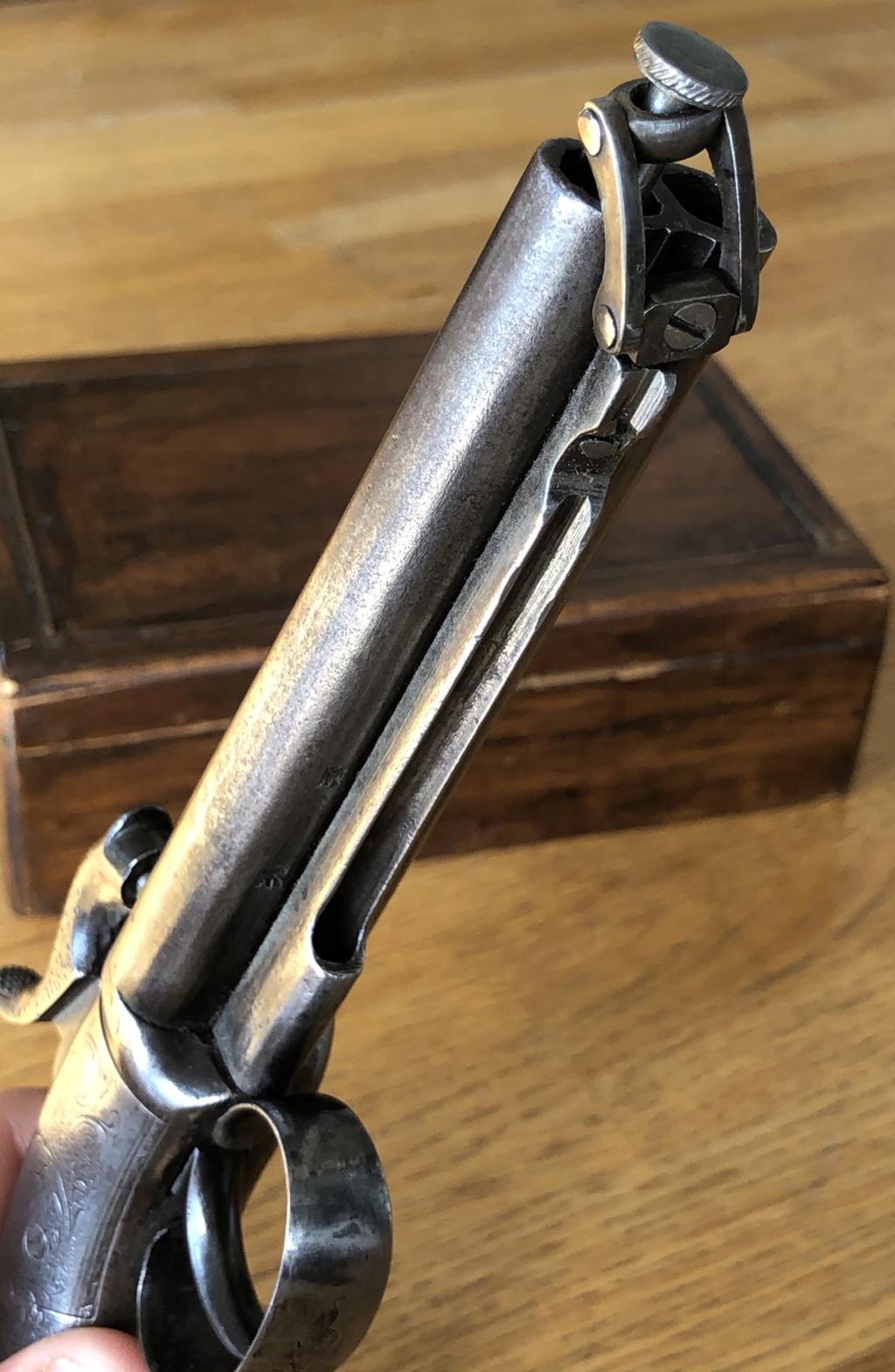 Pistolet à percussion double canons poinçons anglais Img_9015