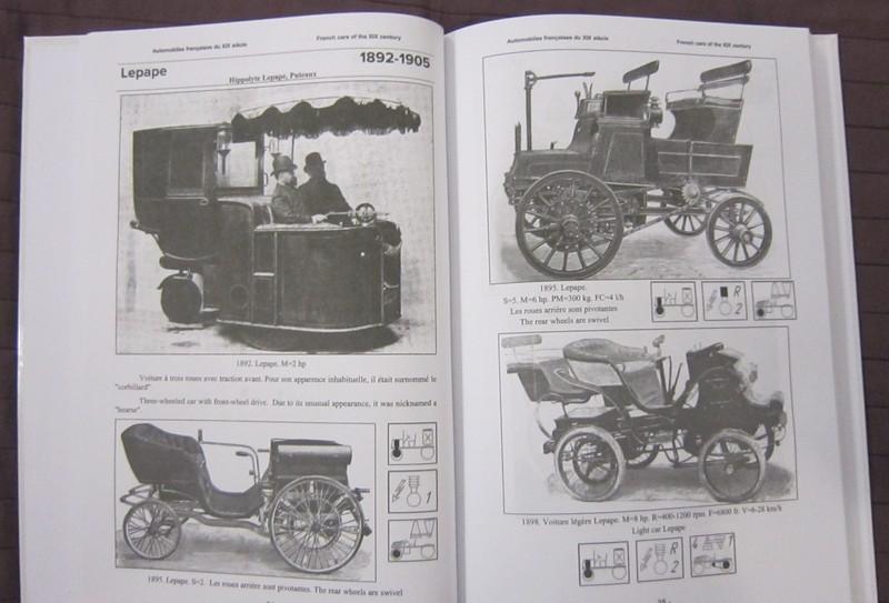 Automobiles françaises du XIXe siècle. Encyclopédie Lepape10
