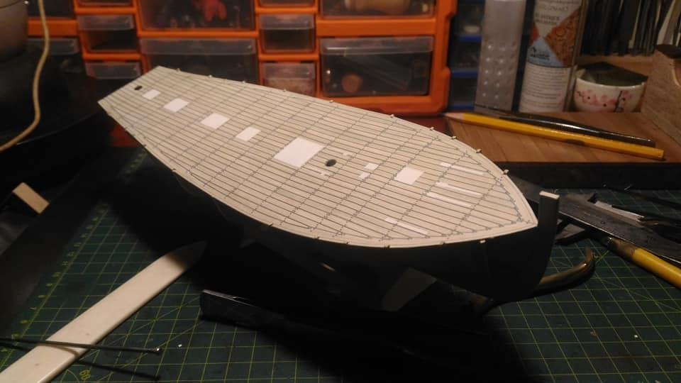 HMS Speedy (1/100) - Scratchbuild de papier 1510
