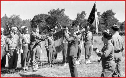 Remise de la Croix de la Libération au 1er RMSM  Fontai10
