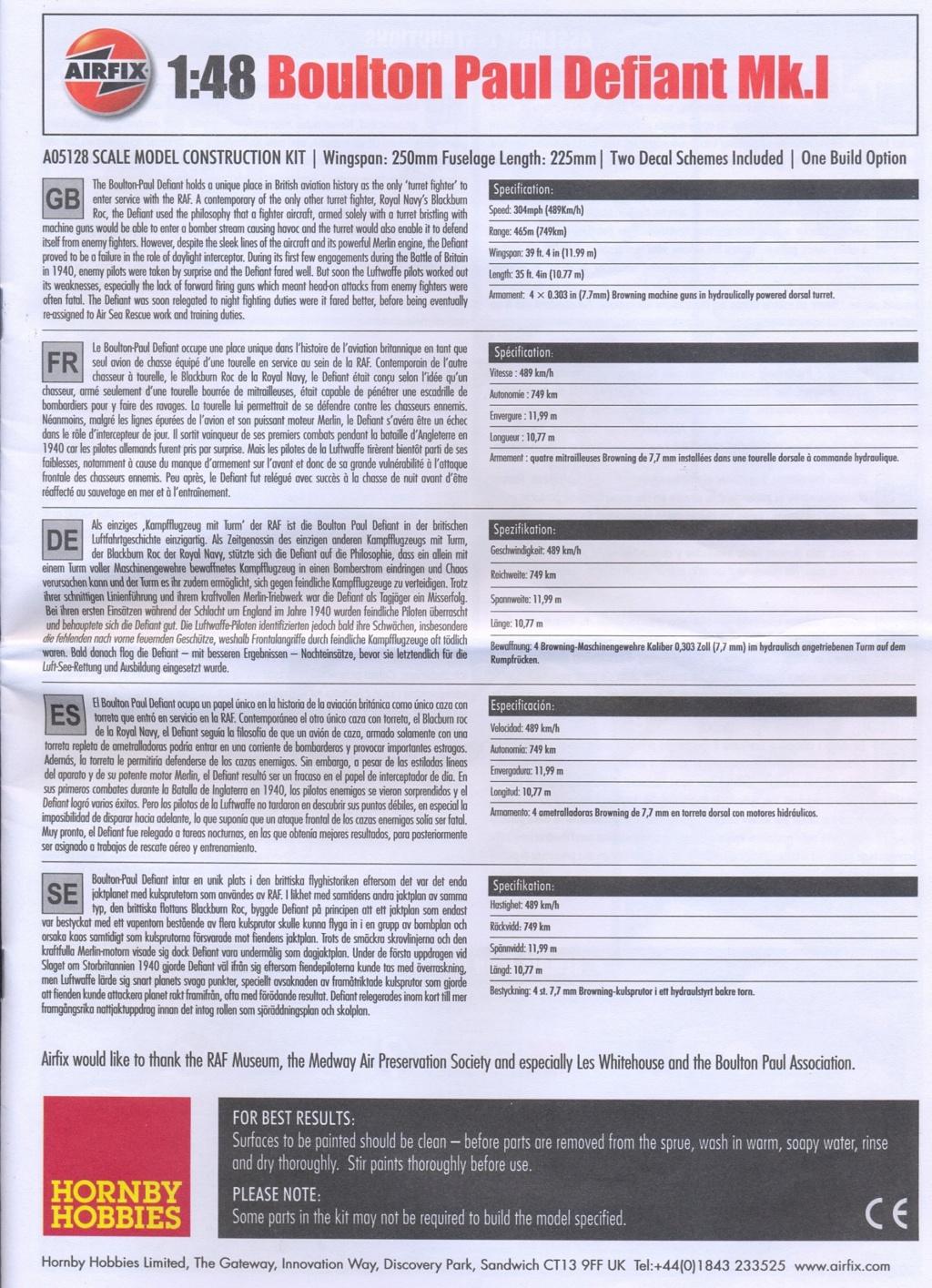 Boulton Paul Defiant MK1 1/48 AIRFIX Notice12