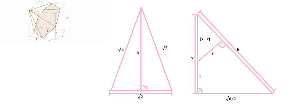 Esfera inscrita em pirâmide hexagonal (Fuvest?) 1211
