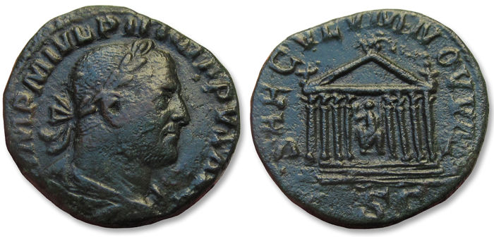2 Antoninianos de la celebración de los 1000 años Ad Urbe Condita - Página 2 Sester10