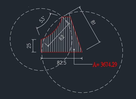 AutoCAD教學 幾何圖形習題04 N10