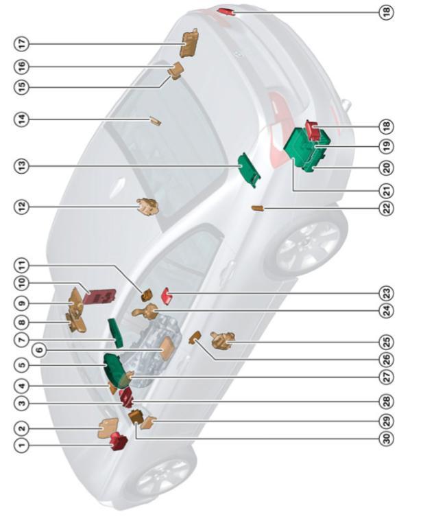 F30 Électronique générale pour véhicules BMW Emplac10