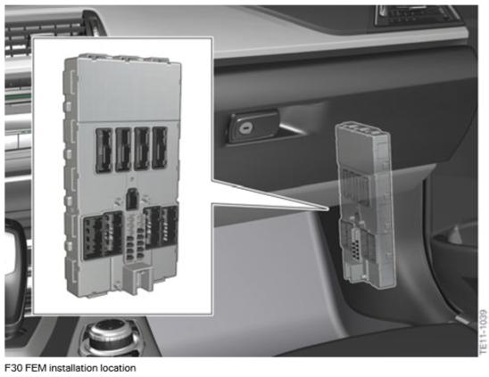 F30 Électronique générale pour véhicules BMW Emplac11